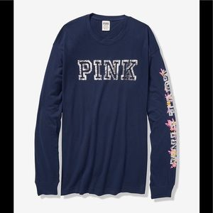 Victoria's Secret Pink Bling Campus Long Sleeve
